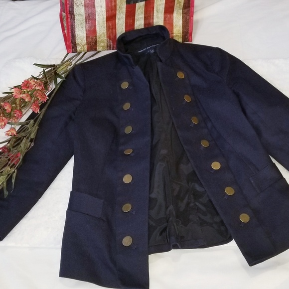 French Connection Womens Military Style Blazer 6